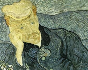 van Gogh Print, Portrait of Dr. Gachet, Vincent van Gogh Art, Dutch Art, Dr. Gachet Print, 1890 van Gogh, Post Impression Art, Old Masters