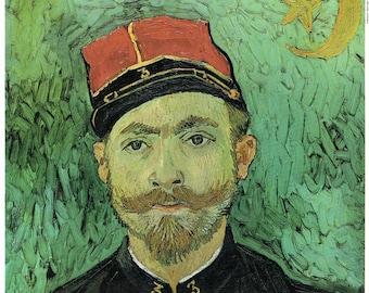 Vincent Van Gogh Print, Portrait of Lieutenant Milliet, Famous van Gogh Paintings, Dutch Artist, Post Impression Art, Vincent van Gogh Art