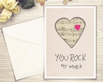 Your Rock My World, Valentines Day Cards, Rock My World, My World, Rock You, You Rock, My Rock, You World, You My World, My World You Rock