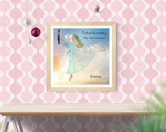 Nutcracker Ballet, Clara Nutcracker, Personalized Print, Nutcracker Clara, Ballet Nutcracker Clara, Nutcracker Ballet Clara, Ballet Clara