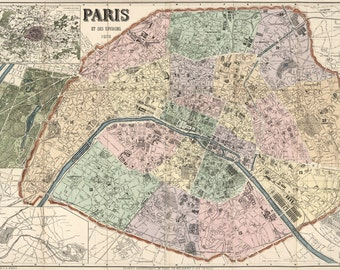Paris Map, France Map, Map France, Map Paris, Paris France Map, Paris France, Paris 1878, Map Paris France, 1878 France, France Paris, Maps