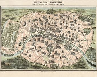Paris Map, France Map, Map France, Map Paris, Paris France Map, Paris France, Paris Monumental, Monumental Paris, Map Paris France, Old Maps