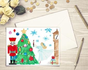 Nutcracker Ballet, Ballet Nutcracker, Christmas Ballet, Ballet Christmas, Christmas Card Nutcracker, Nutcracker Christmas, Nutcracker Card