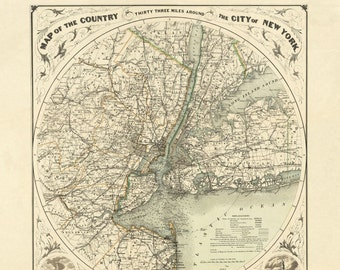 New York, New York City, New York City Map, Map New York, New York Map, York City, Map New York City, Map City, New City, Round Map NYC