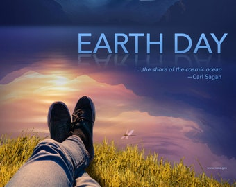 """2018 Earth Day Poster, 15"""" x 30"""" Archival Fine Art Print on Museum Quality Fine Art Paper or Canvas, Matte or Glossy, Gallery Wrap Available"""