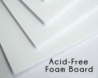 "Acid-Free Foam Board For Picture Frame Mounting In Packs of Four, 4"" x 6"", 5"" x 7"", 8"" x 10"", 11"" x 14, 16"" x 20"", Custom Sizes Available"