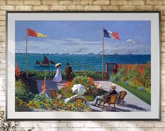 Claude Monet, Claude Monet Garden, Monet Prints, Monet Claude, Claude Monet Prints, Garden at Sainte Adresse, Garden Claude Monet, Monet Art