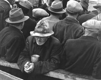 Dorothea Lange, White Angel Breadline, San Francisco, California, 1932, Great Depression Photos, Unemployment Line, Soup Kitchen Photos