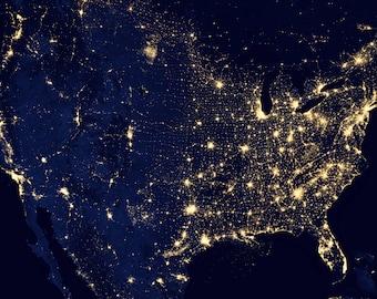 USA Map, City Lights, Map USA, Map City, USA City Map, City Usa, City Lights Usa, Lights Map, City Map Usa, Map Lights City Usa, Space Photo