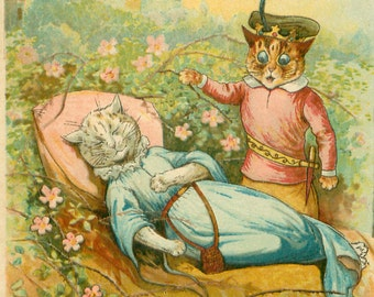 Louis Wain, Sleeping Beauty, Wain Louis, Sleeping Beauty Drawing, Sleeping Drawing, Cats Sleeping, Drawing Sleeping Beauty, Drawing Sleeping