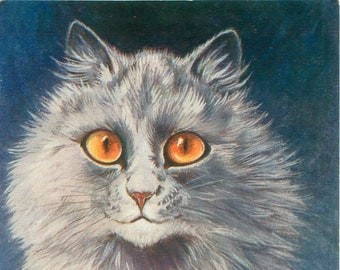Persian Cat, Louis Wain, Cat Persian, Louis Cat, Cat Louis, Wain Louis, Louis Persian, Cat Gifts, Cat Art, Cat Decor, Cat Decal, Cat Picture