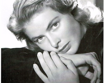 Ingrid Bergman, Giclee Art Print, Hollywood, Celebrities, Old Hollywood, Hollywood Glamour, Home Theater Art, Hollywood Regency, Fine Art
