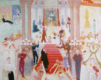 Florine Stettheimer The Cathedrals of Art Fine Art Print Reproduction on Museum Quality Fine Art Paper or Canvas, Matte or Glossy