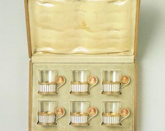 Faberge Art Print, Six Vodka Charki,  Miniature Samovar, Vodka Cup With Sapphires, Vodka Cup With Rubies, Russian Print, Russian History