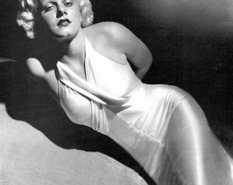 Jean Harlow, Platinum Blond, Hollywood, Giclee Print, Fine Art Print, Suzy, Reckless, Hells Angels, Celebrities, Hollywood Regency, Giclee