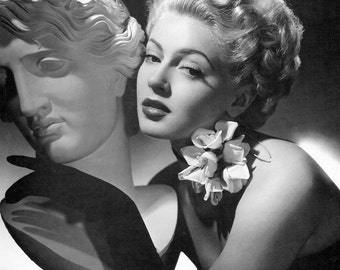Lana Turner, Giclee, Fine Art Print, Hollywood, Wall Decor, Celebrities, Hollywood Regency, Old Hollywood, Leading Ladies, Home Theater Art