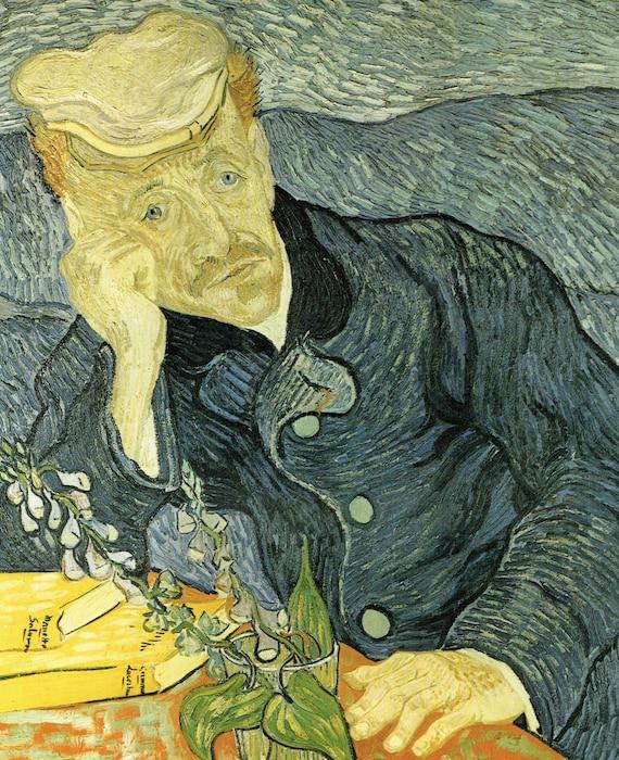 Van Gogh Print Portrait Of Dr Gachet Vincent Van Gogh Art Dutch Art Dr Gachet Print 1890 Van Gogh Post Impression Art Old Masters