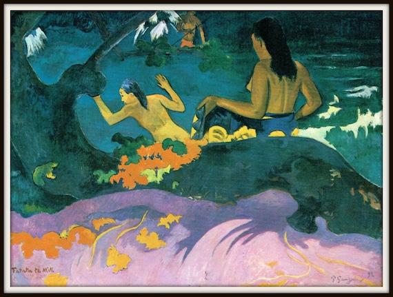 Fatata Te Miti by Paul Gauguin Giclee Fine ArtPrint Reproduction on Canvas