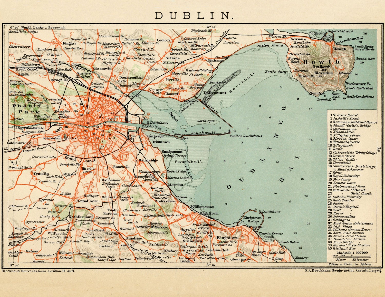 Full Map Of Ireland.Dublin Map Ireland Map Dublin Ireland Map Dublin Map Etsy