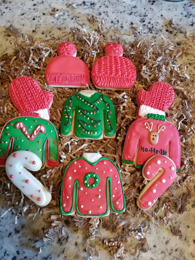 Ugly Sweater Christmas Cookies