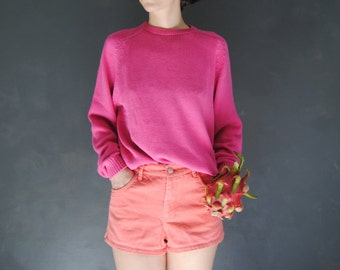 70bd25e914 80s slouchy pink sweater