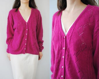 beaded cardigan 80s cardigan cardigan with pearl buttons 80s sweater 80s vintage cardigan w faux pearl collar