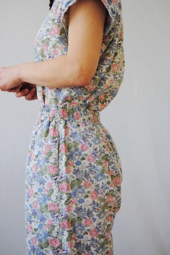 80s two piece floral set, vintage playsuit -- flo… - image 7