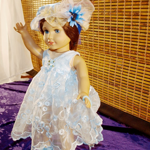 DOLL CLOTHES FLAPPER DANCE COSTUME DRESS HAT W FEATHER FOR AMERICAN GIRL CLOTHES
