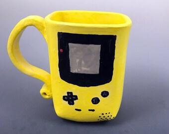 Yellow Ceramic Gameboy Mug