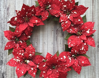traditional christmas holiday door decor holiday wreath red poinsettia wreath poinsettia wreath red christmas wreath