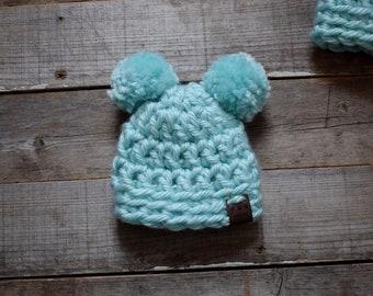 37e1e5c187d Teal Newborn Fleece Lined Hat