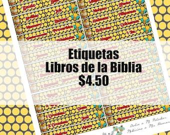 """Etiquetas para tu Biblia """"Abejitas/ Miel"""""""