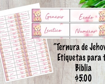 Ternura de Jehova- Etiquetas para tu Biblia