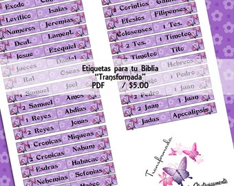 "Etiquetas para tu Biblia ""Transformada"""