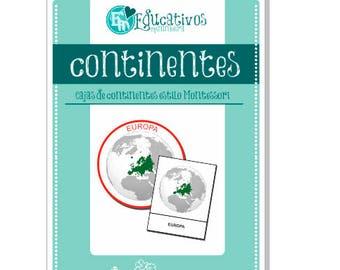 Cajas de continentes - español -