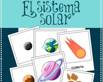 Tarjetas SISTEMA SOLAR - castellano -