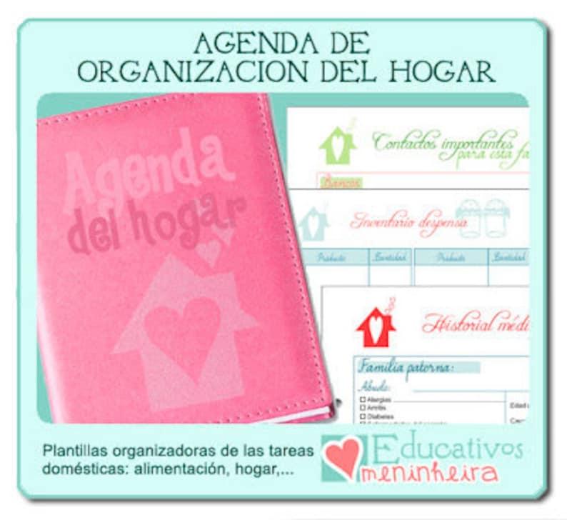 Agenda organizadora para el hogar imprimible  español image 0