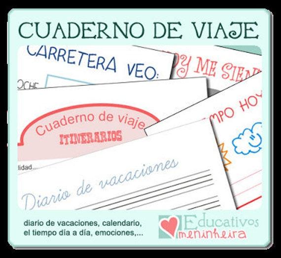 Coronas Para Decorar Cuadernos.Cuaderno De Viaje Para Ninos Espanol
