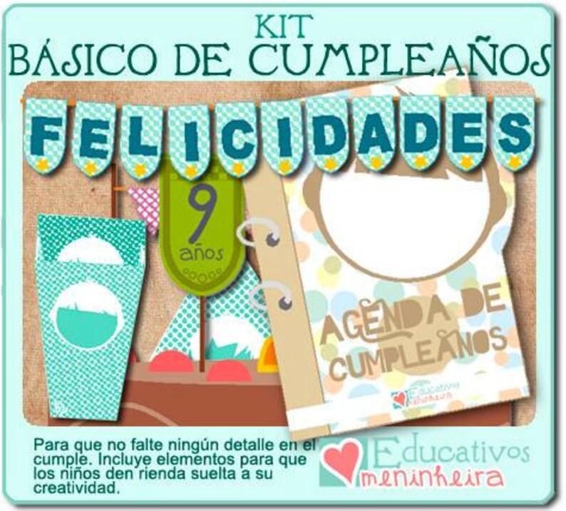 Kit imprimible de cumpleaños español image 0