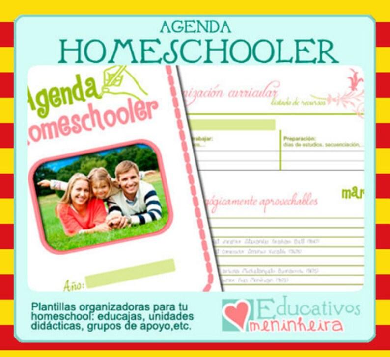 Agenda homeschooler imprimible  catalán image 0