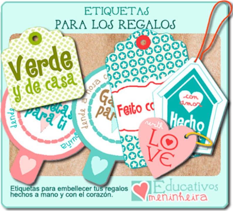 Etiquetas imprimibles para regalo español image 0