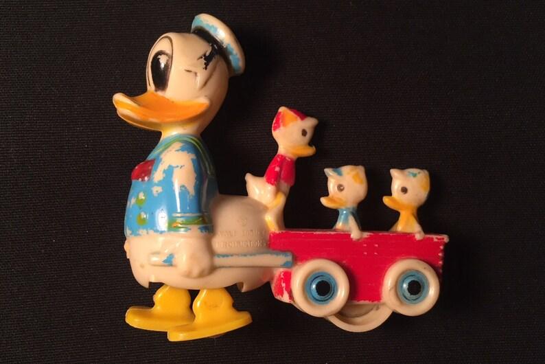 9036dc59aaebd Walker Toy DISNEY Disneyana DONALD DUCK and Huey Dewey Louie Mid Century  1955 Cartoon Duck Charmore (Marx Toys) Walt DIsney Productions