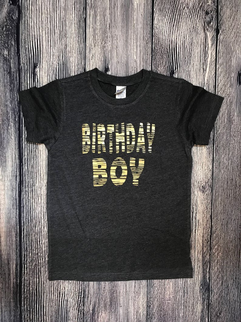 Birthday Boy T Shirt Kids Party