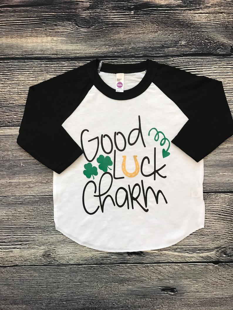 153be13e Kid's St. Patrick's Day Shirt Raglan tee for boys | Etsy