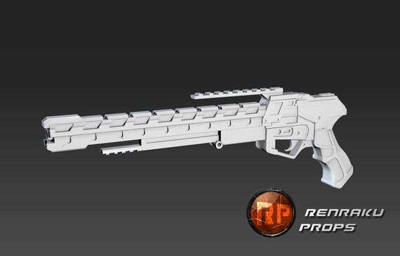 Pistol Rail Gun - 3D printed