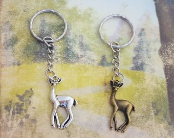 Deer Keychain, Doe Keyring, Animal Gift, Nature Keyring, Doe Charm, Woodland Gift, Animal Keychain, Fawn Charm, Nature Lover Gift, Critters