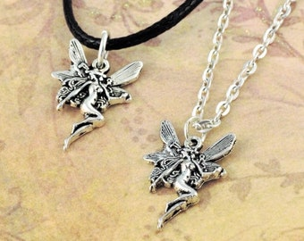 Fairy Necklace Fairies Fantasy Pixie Tale Wish Godmother 925 Sterling Silver