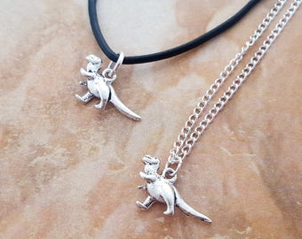 Dinosaur Necklace, Raptor Necklace, T Rex Jewelry, Little Necklace, Dino Gift, Dinosaur Jewellery, Velociraptor, Tyrannosaurus Rex, Dainty