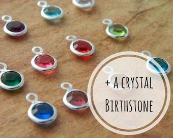 Add A Crystal Birthstone, Purchase Add On, Necklace Add On, Bracelet Add On, Keyring Add On, Personalised Gift, Birthstone Gift, Crystals