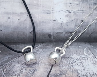 Kettlebell Necklace, Fitness Jewelry, Health Jewellery, Exercise Necklace, Workout Necklace, Gym Jewellery, Unisex Necklace, Strength Gift